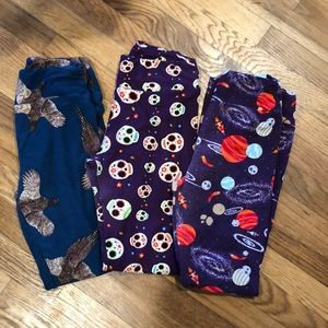 Lot of three LuLaRoe leggings